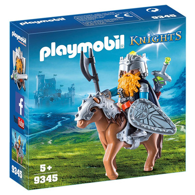 Playmobil Knights Dwarf Fighter With Pony With Removeable Armour