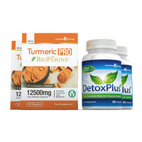 Image of Turmeric Pro with BioPerine® & DetoxPlus Combo Pack - 2 Month Supply