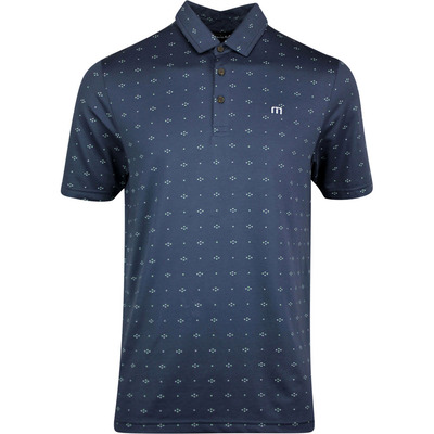 TravisMathew Golf Shirt KnowWhatImSayin Polo Blue Nights SS20