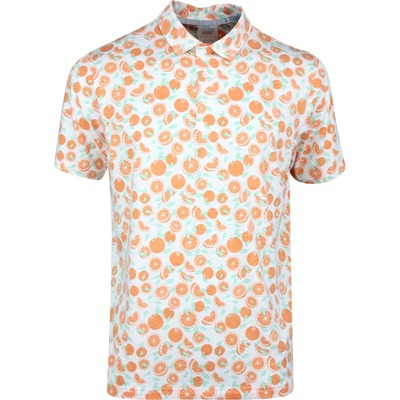 PUMA Golf Shirt Slices Polo Florida Orange Print SS20