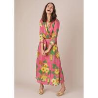 Colette Wrap Dress - Pink Floral