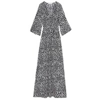 Bo Kaftan Cotton Dress - Black Leo