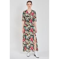 Beatrice Silk Maxi Dress - Leopard