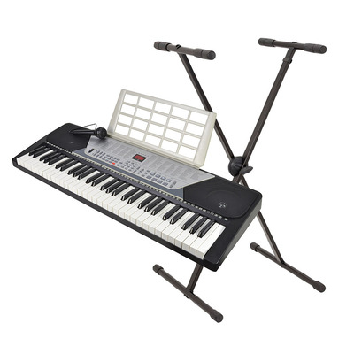 61 Key Electronic Keyboard with Microphone and Stand