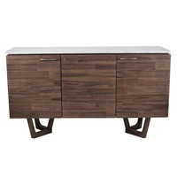 Pacific Lifestyle &pipe; Cool Brown Acacia Wood & Marble Sideboard