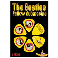 Beatles Yellow Submarine Guitar Picks - Yellow