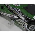 Mini Moto Foot Pegs - Hooks - Silver - Foot Pegs
