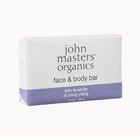 Image of John-Masters-Organics-Lavender-and-Ylang-Ylang-Face-and-Body-Bar-128g
