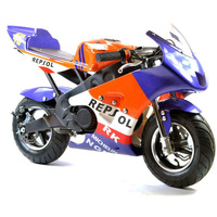 Image of FunBikes MT4A 50cc 46cm Blue Orange Mini Moto Racing Bike