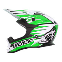 Image of Wulfsport Kids Advance Crash Helmet Green