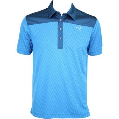 Puma Diamond Block Golf Shirt Cloisonn233 Blue AW15