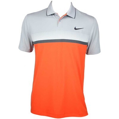 Nike MDRN Momentum Fly Stripe Golf Shirt Electro Orange AW15