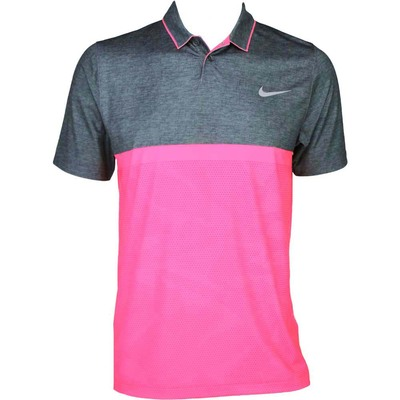 Nike Modern Fit Momentum Camo Golf Shirt Sport Fuchsia AW15