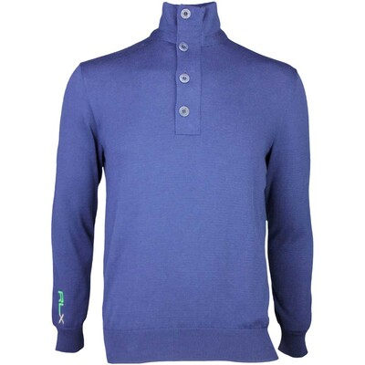 RLX Golf Jumper ThermoCool Button French Navy SS16