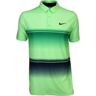 Nike Golf Shirt Mobility Stripe Lucid Green SS16