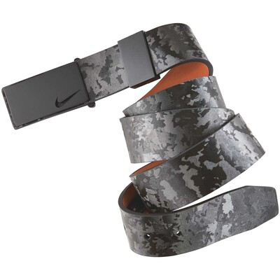 Nike Golf Belt Sleek Modern Textured Plaque Dark Grey SS16