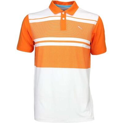 Puma Golf Shirt Pattern Block Vibrant Orange SS16