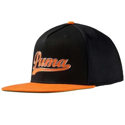 Puma Golf Cap Script Snapback Black Orange SS16