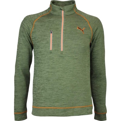 Puma Golf Pullover PWRWARM Elevated Zip Forest Night AW16