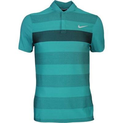 Nike Golf Shirt MM Fly BLADE Stripe Alpha Rio Teal AW16