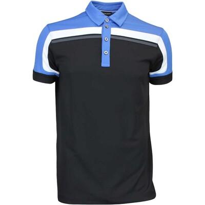 Galvin Green Golf Shirt MACOY Ventil8 Black Blue AW16