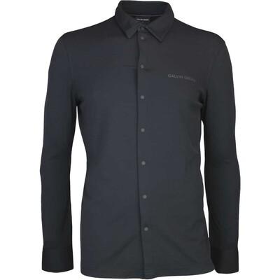 Galvin Green Golf Shirt MORRIS Long Sleeve Black AW17