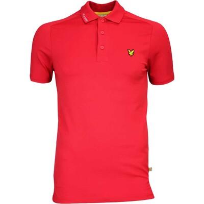 Lyle Scott Golf Shirt Hawick Tech Tour Bright Red AW16