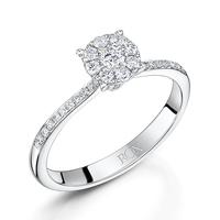 Vintage Shoulder Diamond Ring 0.30cts