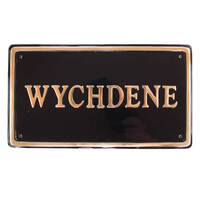 Brass Rectangle House Sign 44.5 x 25cm