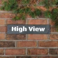 Slate House Sign 1 line 45.5 x 10cm - smooth slate