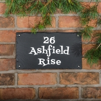 Rustic Slate House Sign - 3 line 35.5 x 20cm