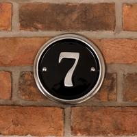Aluminium Number Round 16cm diameter
