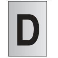 Metal Effect PVC Letter D