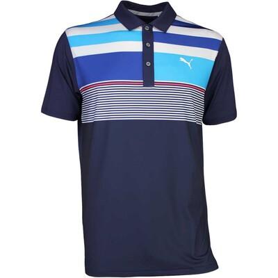 Puma Golf Shirt Road Map Asym Peacoat SS17