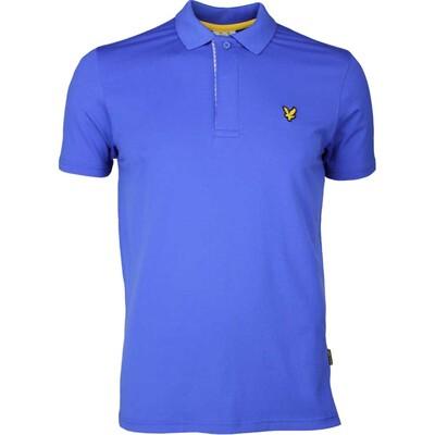 Lyle Scott Golf Shirt Elgin Houndstooth Cobalt SS17