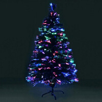 Jingles Spectrum Green Fibre Optic Christmas Tree - 150cm