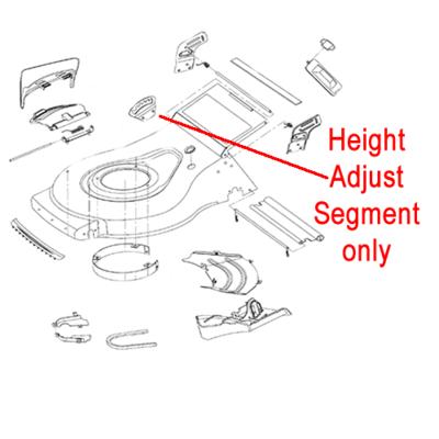 Gardencare Gardencare LM51SP Height Adjust Segment GC2012004