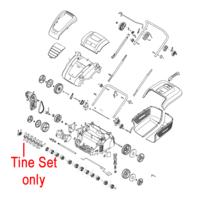 Mountfield MSR38 Scarifier Tine Blade Set 118802686/0