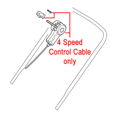 Mountfield Mountfield 4 Speed Control Cable 381007110/0