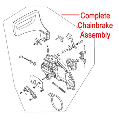 MacAllister Macallister MCSP40 Chainbrake Assembly 118800948/0