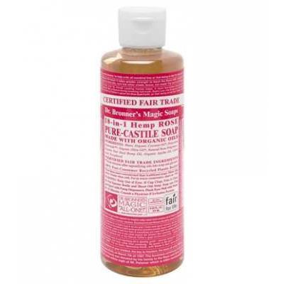 Dr Bronner's Rose Castile Liquid Soap 237ml