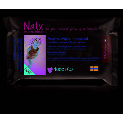 Naty by Nature Unscented Sensitive Travel Baby Wipes