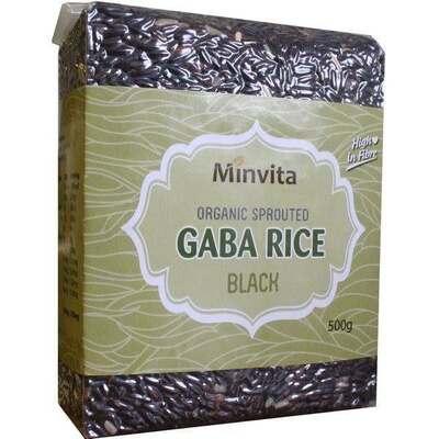 Minvita Organic Black Gaba Rice 500g