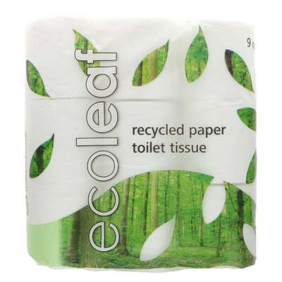 Ecoleaf 100% Recycled Toilet Paper - Pack of 9