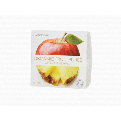 Clearspring Organic Fruit Purée Apple & Pineapple 2 x 100g