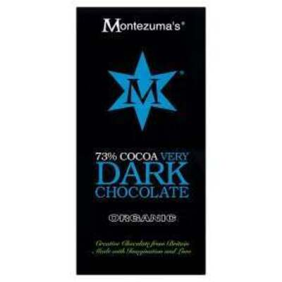 Montezuma's Organic 73% Cocoa Very Dark Chocolate Bar 100g