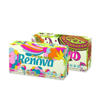 Renova Green 100% Recycled 80 White Tissues