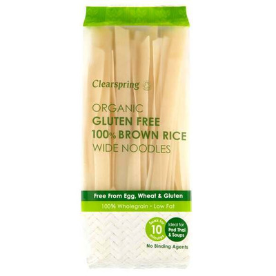 Clearspring Organic Gluten Free 100% Brown Rice Wide Noodles 200g