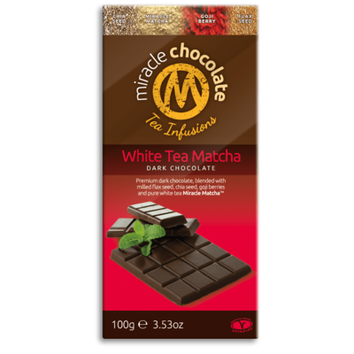 Miracle Matcha White Tea Dark Chocolate 100g