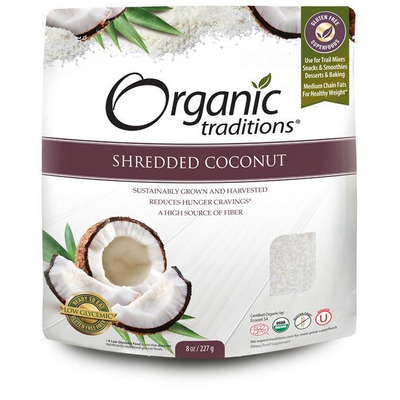 Organic Traditions Gluten Free Shredded Coconut 227g